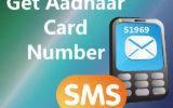 aadhaar card number via sms